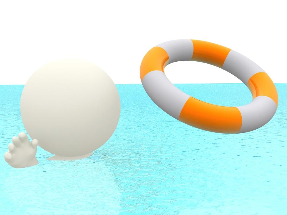 3D man swimming towards a life saver.jpeg